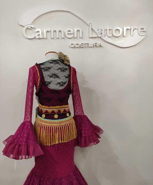Chaleco flamenca flecos
