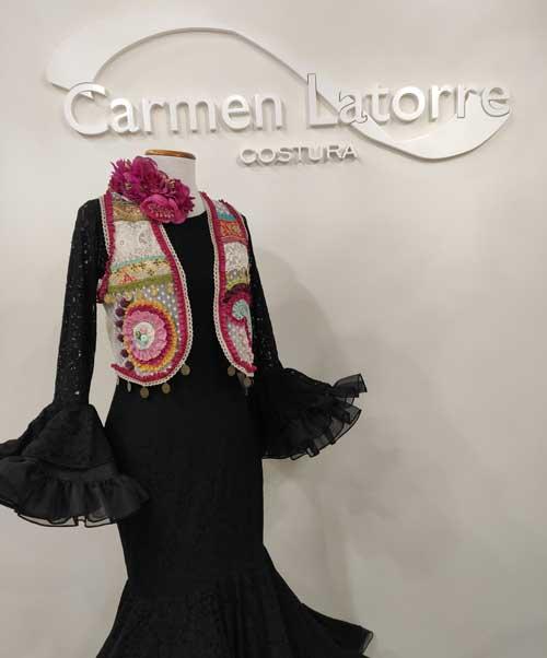 Chaleco flamenca patchwork